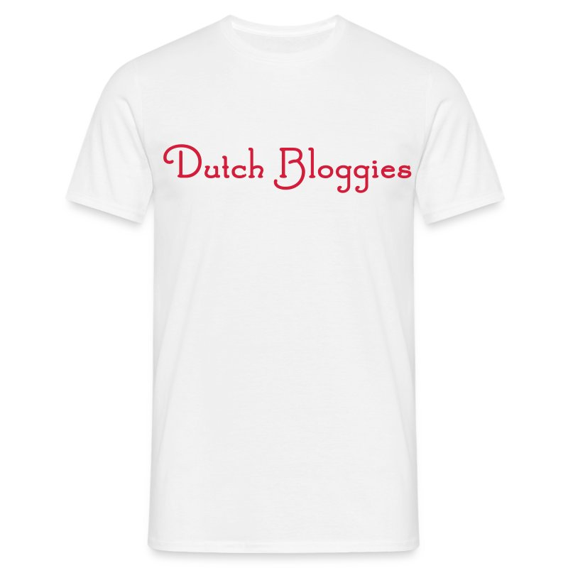 Dutch Bloggies wit standaard - Mannen T-shirt