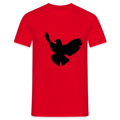 SONDERANGEBOT!!! Shirt (rot) mit Friedenstaube (schwarz) - Männer T-Shirt