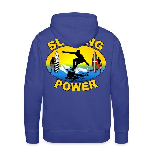 Basque Breizh surfing power - Men's Premium Hoodie