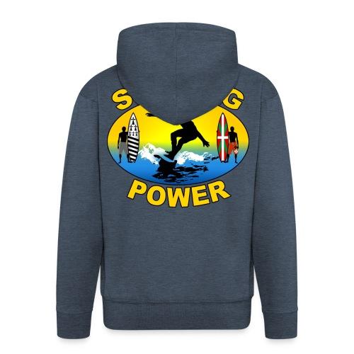 Basque Breizh surfing power - Men's Premium Hooded Jacket