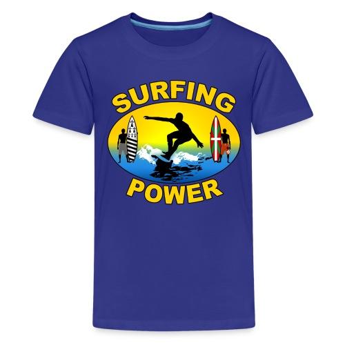 Basque Breizh surfing power - Teenage Premium T-Shirt