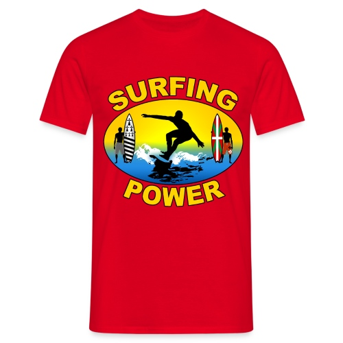 Basque Breizh surfing power - Men's T-Shirt