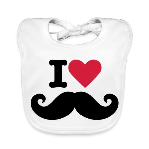 i love mustage - Bio-slabbetje voor baby's