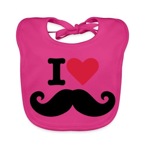 i love Mustage baby - Bio-slabbetje voor baby's