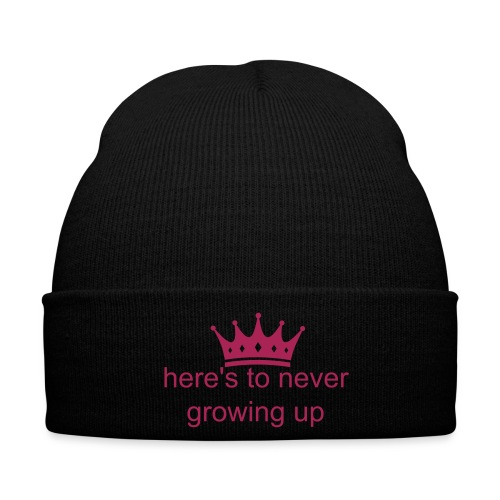 dames beanie here's to never growing up - Wintermuts