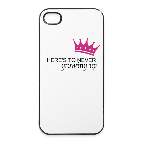 4/4s case here's to never growing up - iPhone 4/4s hard case
