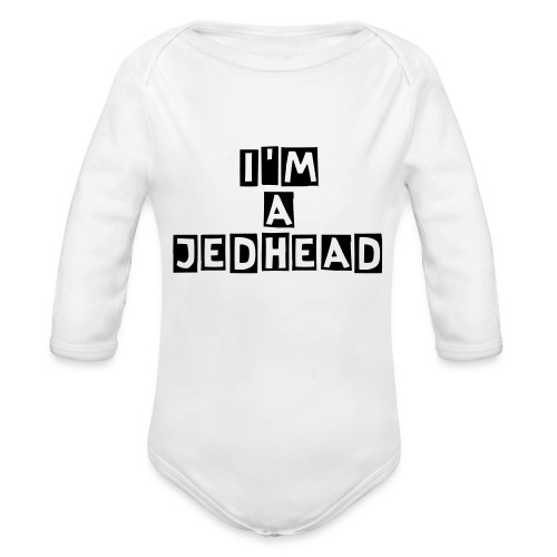I'M A JEDHEAD Baby Long Sleeve One Piece - Organic Longsleeve Baby Bodysuit