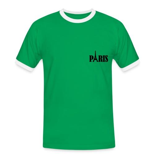T shirt rouge vert - T-shirt contrasté Homme