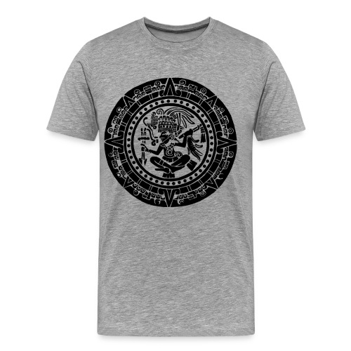 Classic T-shirt of the Mayan Calendar - Men's Premium T-Shirt