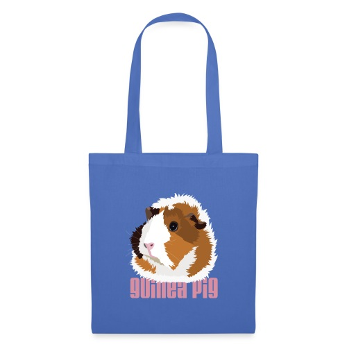 Retro Guinea Pig 'Elsie' Tote Shopping Bag (text) - Tote Bag