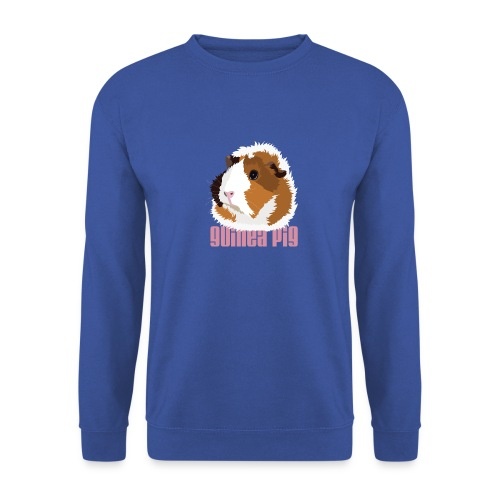 Retro Guinea Pig 'Elsie' Sweatshirt (text) - Men's Sweatshirt