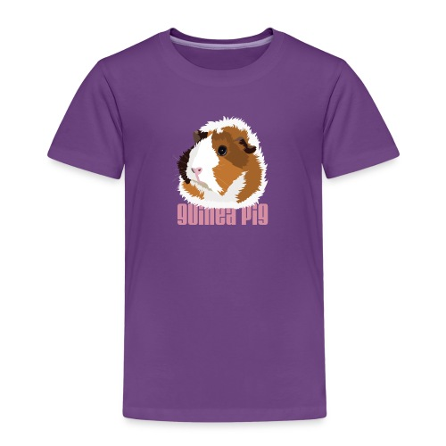 Retro Guinea Pig 'Elsie' Children's T-Shirt (text) - Kids' Premium T-Shirt