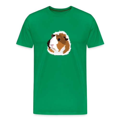 Retro Guinea Pig 'Elsie' Men's/Unisex T-Shirt (no text) - Men's Premium T-Shirt