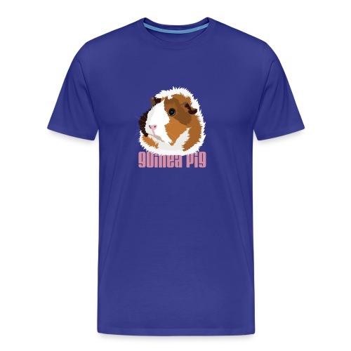 Retro Guinea Pig 'Elsie' Men's/Unisex T-Shirt (text) - Men's Premium T-Shirt