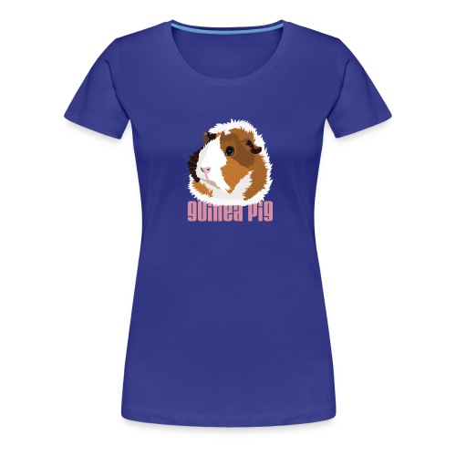 Retro Guinea Pig 'Elsie' Ladies T-Shirt (text) - Women's Premium T-Shirt
