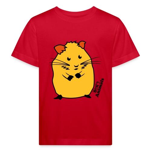 Kinder Bio-T-Shirt rot mit Hamster - Kinder Bio-T-Shirt