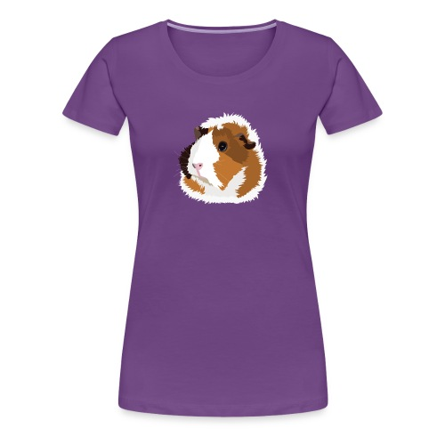 Retro Guinea Pig 'Elsie' Ladies T-Shirt (no text) - Women's Premium T-Shirt