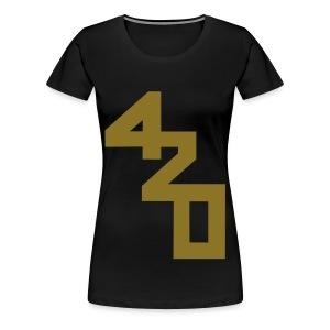Happy 4/20! [Ltd gold foil] - Women's Premium T-Shirt