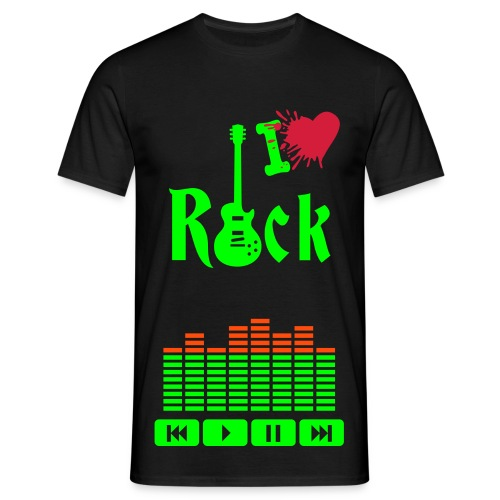 l'amour du rock  - T-shirt Homme