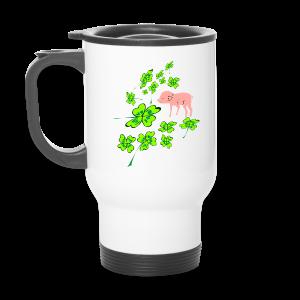 Glücks-Tasse mit Schweinchen - Thermobecher