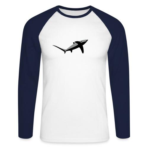 aqua - T-shirt baseball manches longues Homme