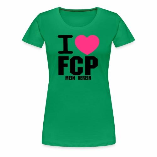 I Love FCP (Frauen T-Shirt, Schrift: schwarz) - Frauen Premium T-Shirt