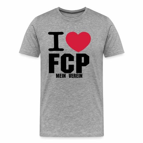 I Love FCP (Männer T-Shirt, Schrift: schwarz) - Männer Premium T-Shirt