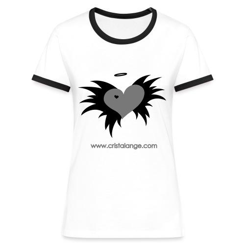 Boutique femme t shirt Cristalange  - Women's Ringer T-Shirt