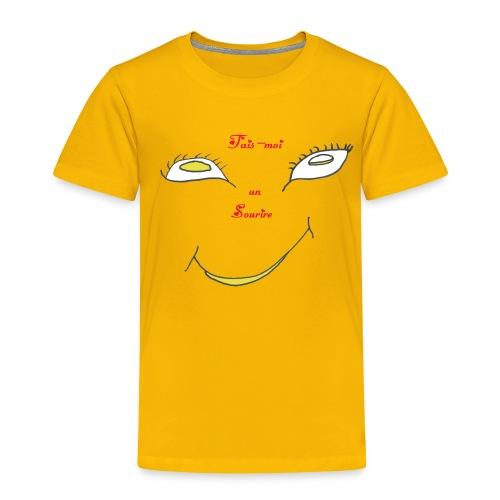 TS JAUNE HOMME SOURIRE - T-shirt Premium Enfant