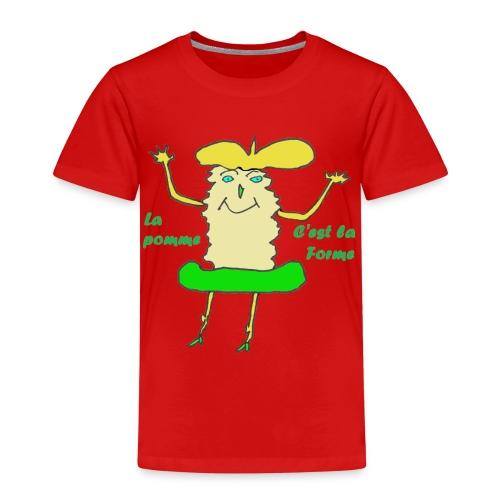 TS ROUGE HOMME POMME SANTE - T-shirt Premium Enfant