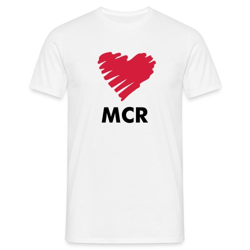 Love MCR Heart - Men's T-Shirt