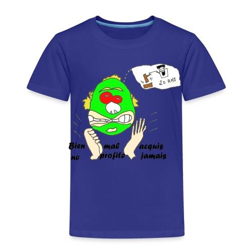 TS JAUNE HOMME MAL ACQUIS - T-shirt Premium Enfant