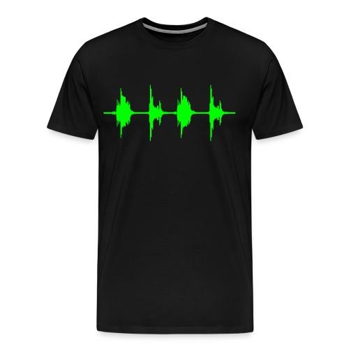 Equalizer T-Shirt schwarz/neongrün - Männer Premium T-Shirt