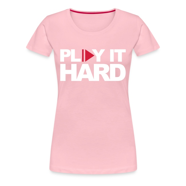 Play it hard Girlie schwarz/weiß