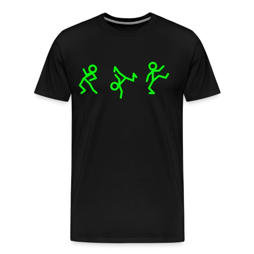 Tanzende Figuren T-Shirt schwarz/neongrün - Männer Premium T-Shirt