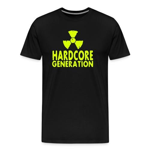 Hardcore Generation T-Shirt schwarz/gelb - Männer Premium T-Shirt