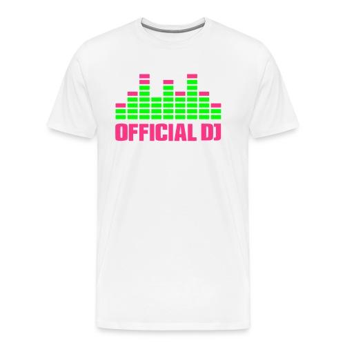 Official DJ Equalizer weiß/grün/pink - Männer Premium T-Shirt