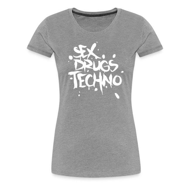 Sex Drugs Techno Girlie schwarz/weiß