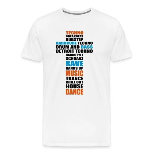 Techno Kreuz T-Shirt weiß - Männer Premium T-Shirt