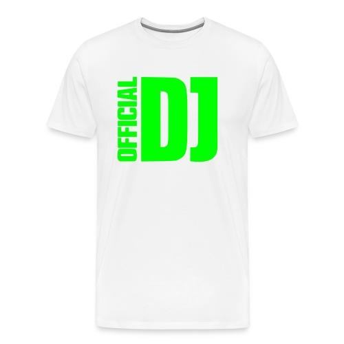 Official DJ T-Shirt weiß/neongrün - Männer Premium T-Shirt