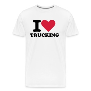 I love trucking - Premium T-skjorte for menn