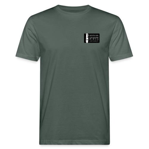 Bio Herren Shirt: DUPG Logo weiß - kleine Logo Größe - Männer Bio-T-Shirt