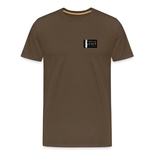 Herren Shirt: DUPG Logo weiß - kleine Logo Größe - Männer Premium T-Shirt