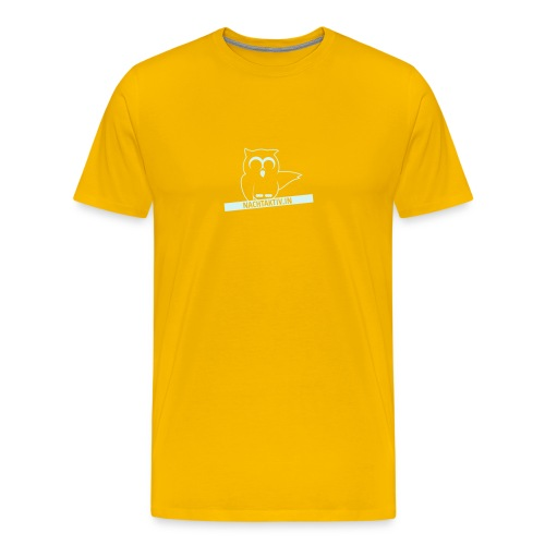 Reflektierendes Eulenlogo! - Männer Premium T-Shirt
