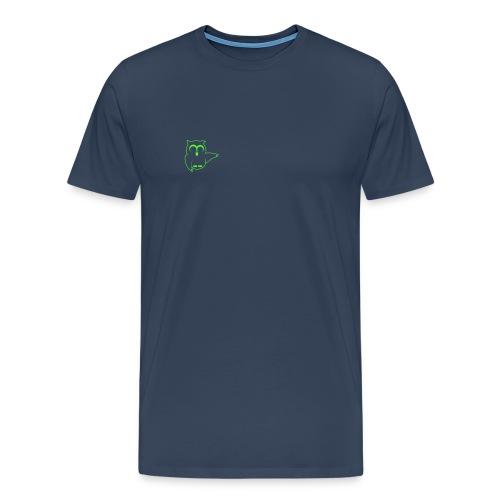 Eule Vorne URL auf dem Rücken - Männer Premium T-Shirt
