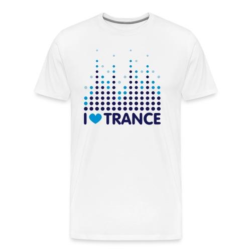I love Trance T-Shirt weiß/blau - Männer Premium T-Shirt