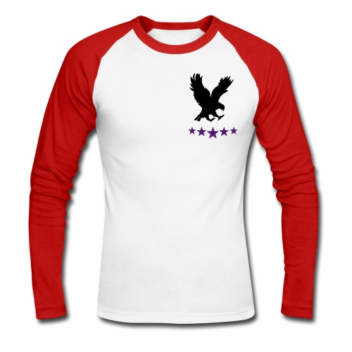 hollow vains long sleeved baseball tee - Men's Long Sleeve Baseball T-Shirt