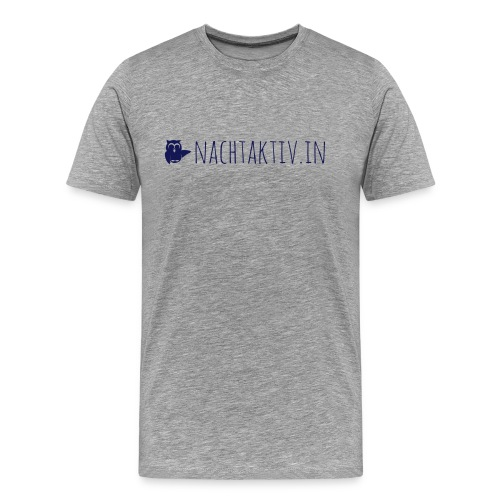 Eule plus URL - Männer Premium T-Shirt