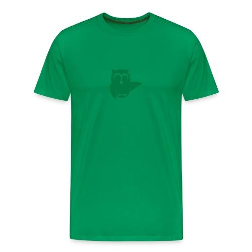 Grüner Glitzer, Eule plus URL am Rücken!! - Männer Premium T-Shirt