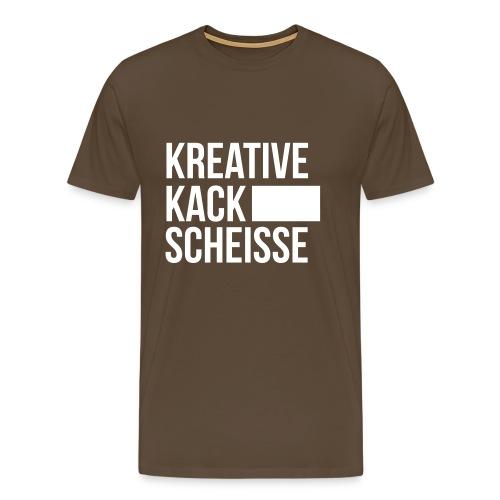 Kreative-Kack-Scheisse - Männer Premium T-Shirt